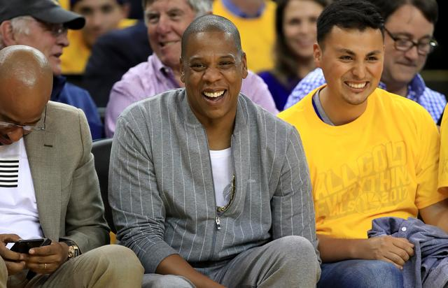 Jay Z at a basketball game 2017