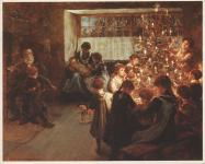 Happy Christmas Eve! 'The Christmas Tree', by Albert Chevallier Tayler, 1911.