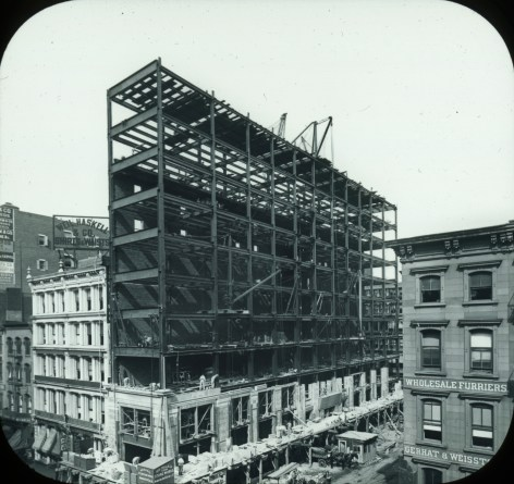 Building under construction, New York
