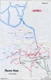 Tunnelling Plan Railway Wood (War Diary 177 Coy) VI.27