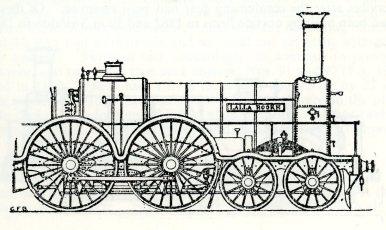 Lalla Rookh, broad gauge passenger 4-4-0