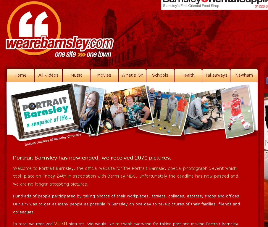 We are Barnsely website screengrab