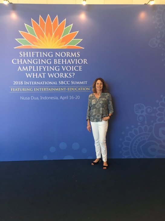 Nicola Harford at SBCC summit in Bali