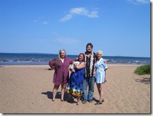 julie-brad-terri-imelda-maggie-lake-superior-ashland-wi-beach