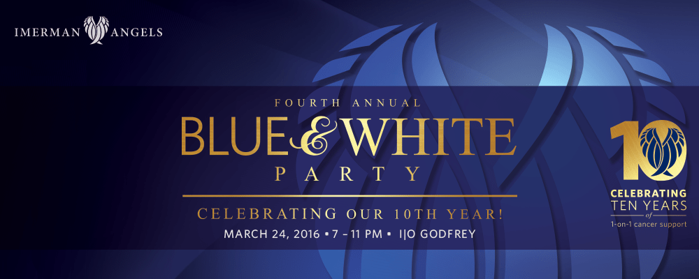 Blue & White Party to celebrate our 10th year providing cancer support!
