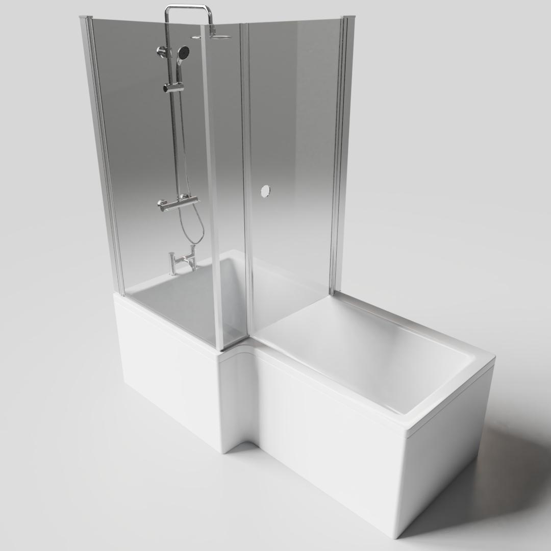 P-Shape Bath 1