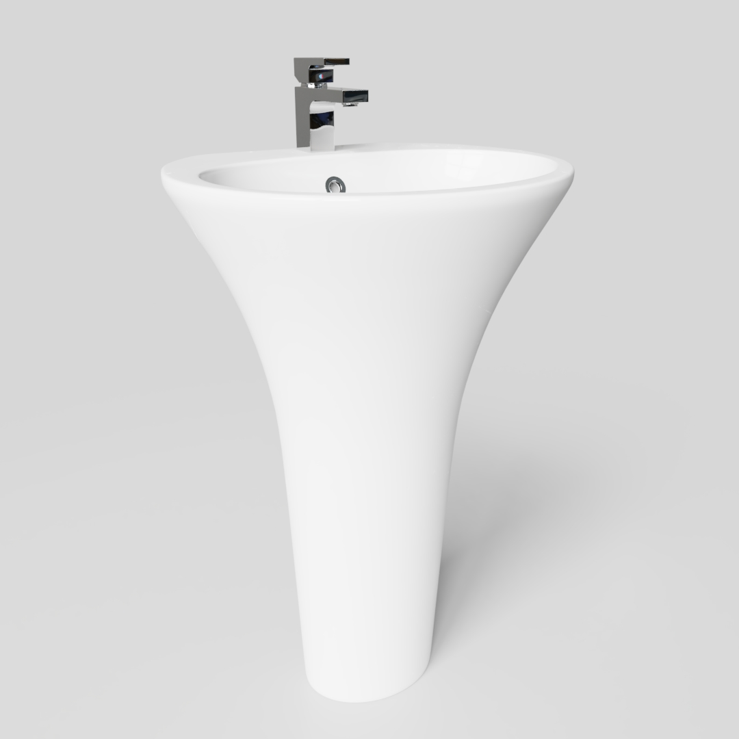 Tall Basin with Pedestal