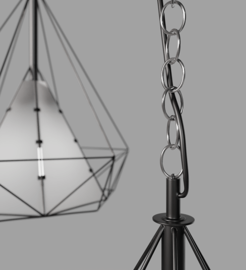 CP-0015 Scandinavian Wireframe lamp2