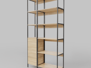 SS-0002 Thin Frame Wood Shelving
