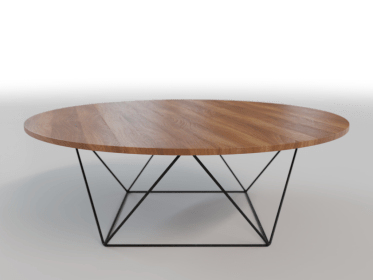 LT-0004 Metal Wood Coffee Table3