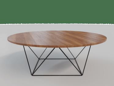 LT-0004 Metal Wood Coffee Table3