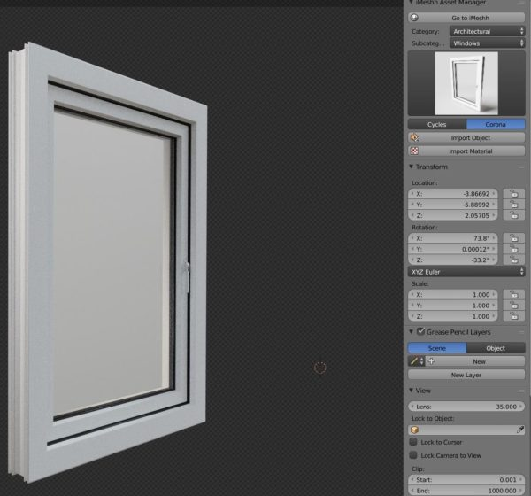 Window import