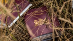 GRABOVO, UKRAINE - JULY 22: Two Dutch passports lie in a field amongst luggage, personal belongings and wreckage from Malaysia Airlines flight MH17 on July 22, 2014 in Grabovo, Ukraine. Malaysia Airlines flight MH17 was travelling from Amsterdam to Kuala Lumpur when it crashed killing all 298 on board including 80 children. The aircraft was allegedly shot down by a missile and investigations continue over the perpetrators of the attack. (Photo by Rob Stothard/Getty Images)