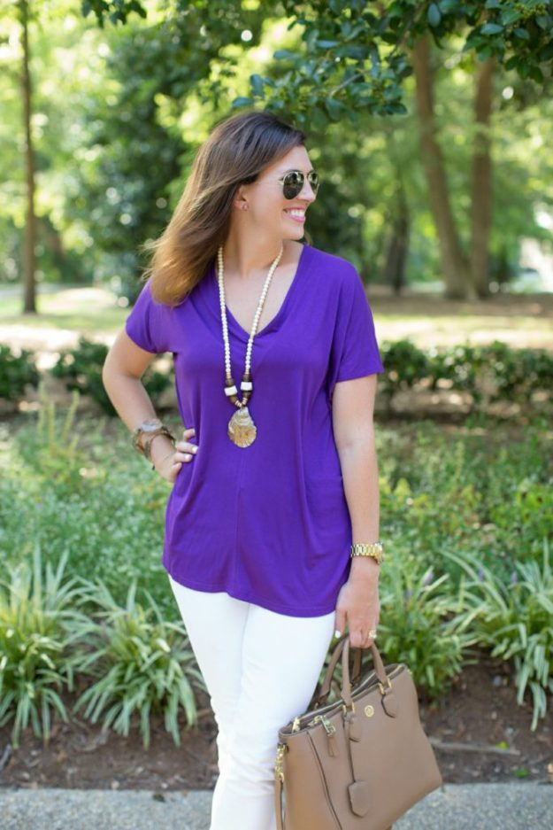 Purple & Gold for Fall