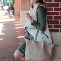 Olive Green & Tan From Ivy & Leo