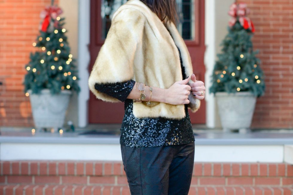 Sequins & Fur for New Year's Eve