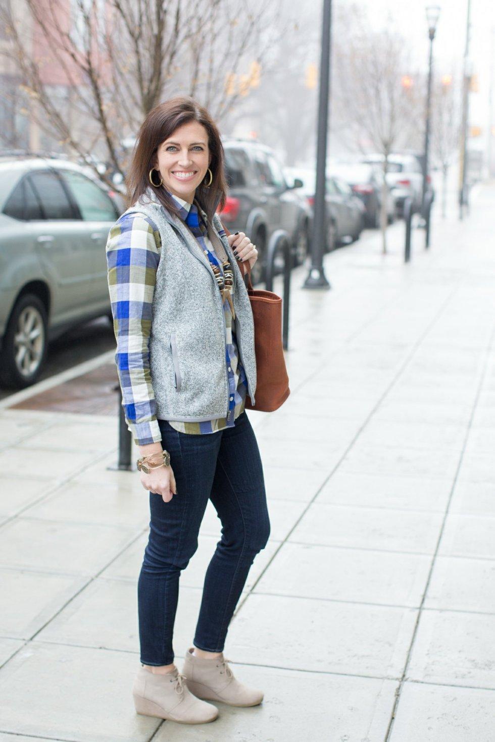 Plaid Flannel + Vest - I'm Fixin' To - @mbg0112