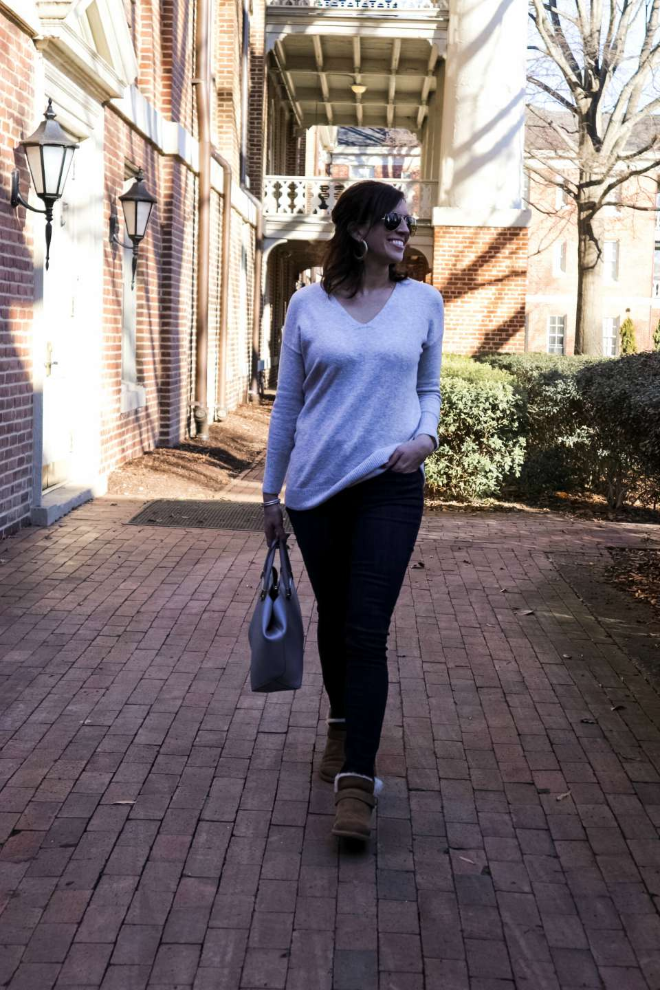 My Favorite Gray Tops for Weekend Wear - I'm Fixin' To - @mbg0112