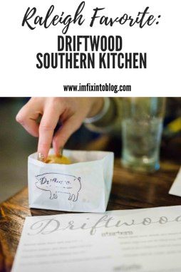 Raleigh Favorite: Driftwood Southern Kitchen - I'm Fixin' To - @mbg0112 | Driftwood Southern Kitchen review by top Raleigh blog, I'm Fixin' To