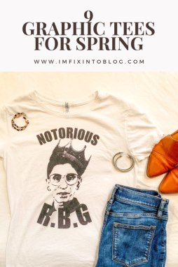 9 Cute Graphic Tees for Spring - I'm Fixin' To - @mbg0112 | 9 Cute Graphic Tees for Spring featured by top US fashion blog, I'm Fixin' To: Ruth Bader Ginsburg tee available on Etsy