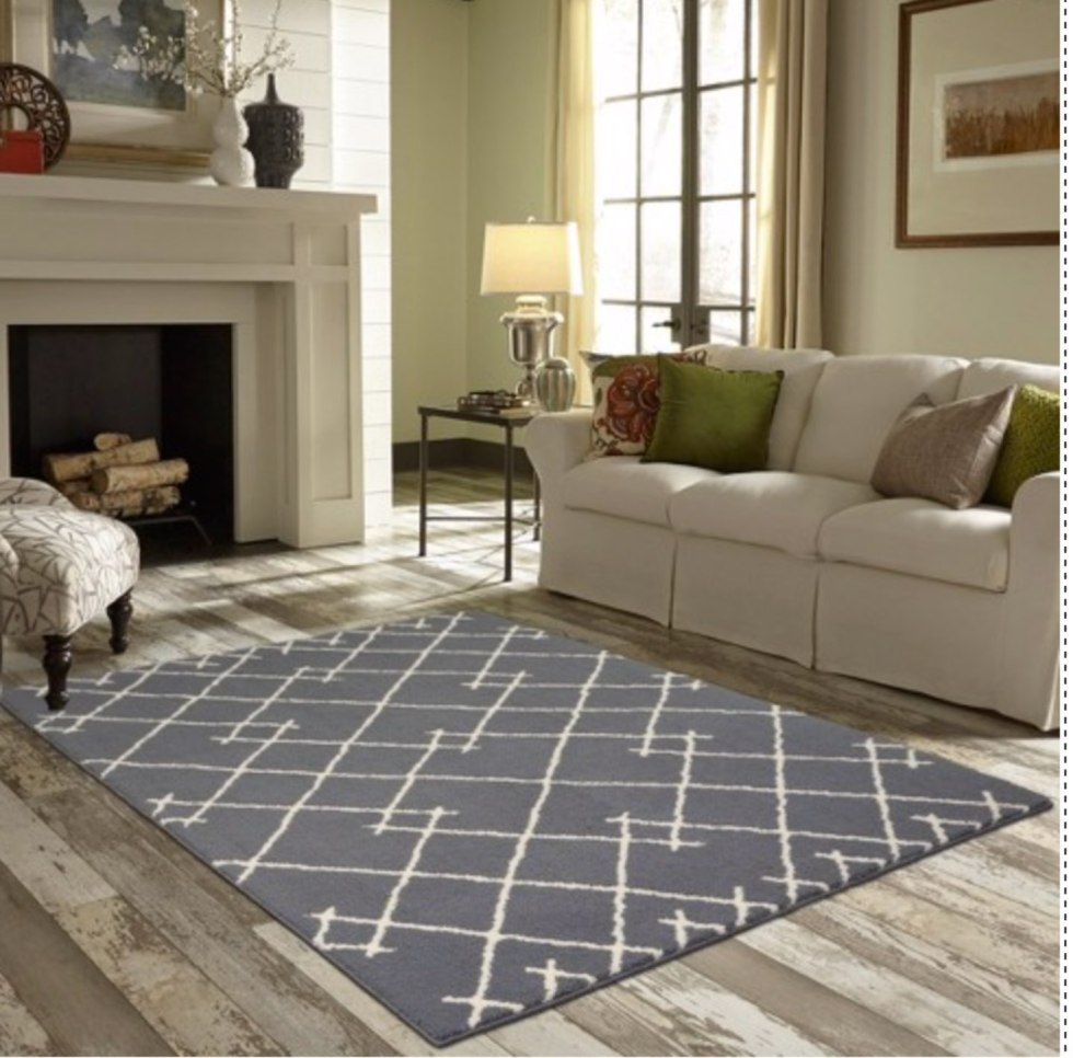 Top 10 Best Area Rugs for your Space from Amazon and Target - I'm Fixin' To - @mbg0112 | Top 6 Best Area Rugs for your Space from Amazon and Target by popular lifestyle blog, I'm Fixin' To: image of a Project 62 Kenya Fleece Tufted Rug.
