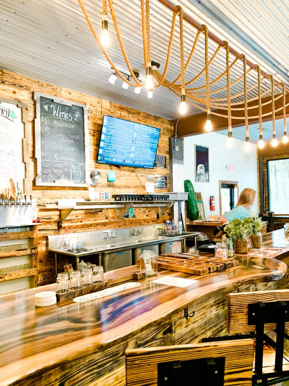 Eastern North Carolina Travel Guide: Top 10 Things to Do in Goldsboro NC by popular North Carolina blog, I'm Fixin' To: image of R & R Brewing.