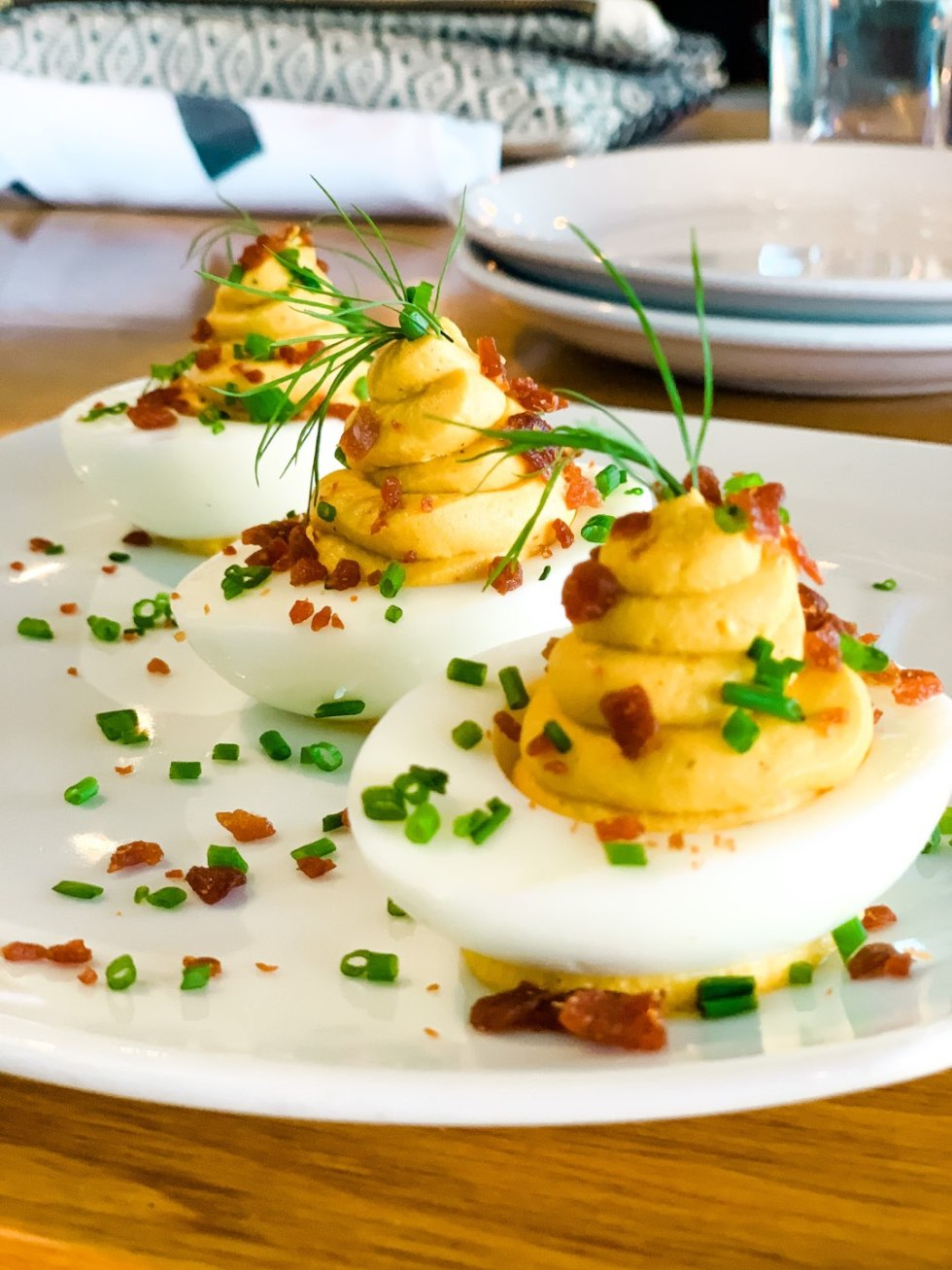 Where to Get Brunch in Raleigh: the 7 Best Spots - I'm Fixin' To - @mbg0112 | Brunch in Raleigh by popular Raleigh blog, I'm Fixin To: image of Whiskey Kitchen deviled eggs.