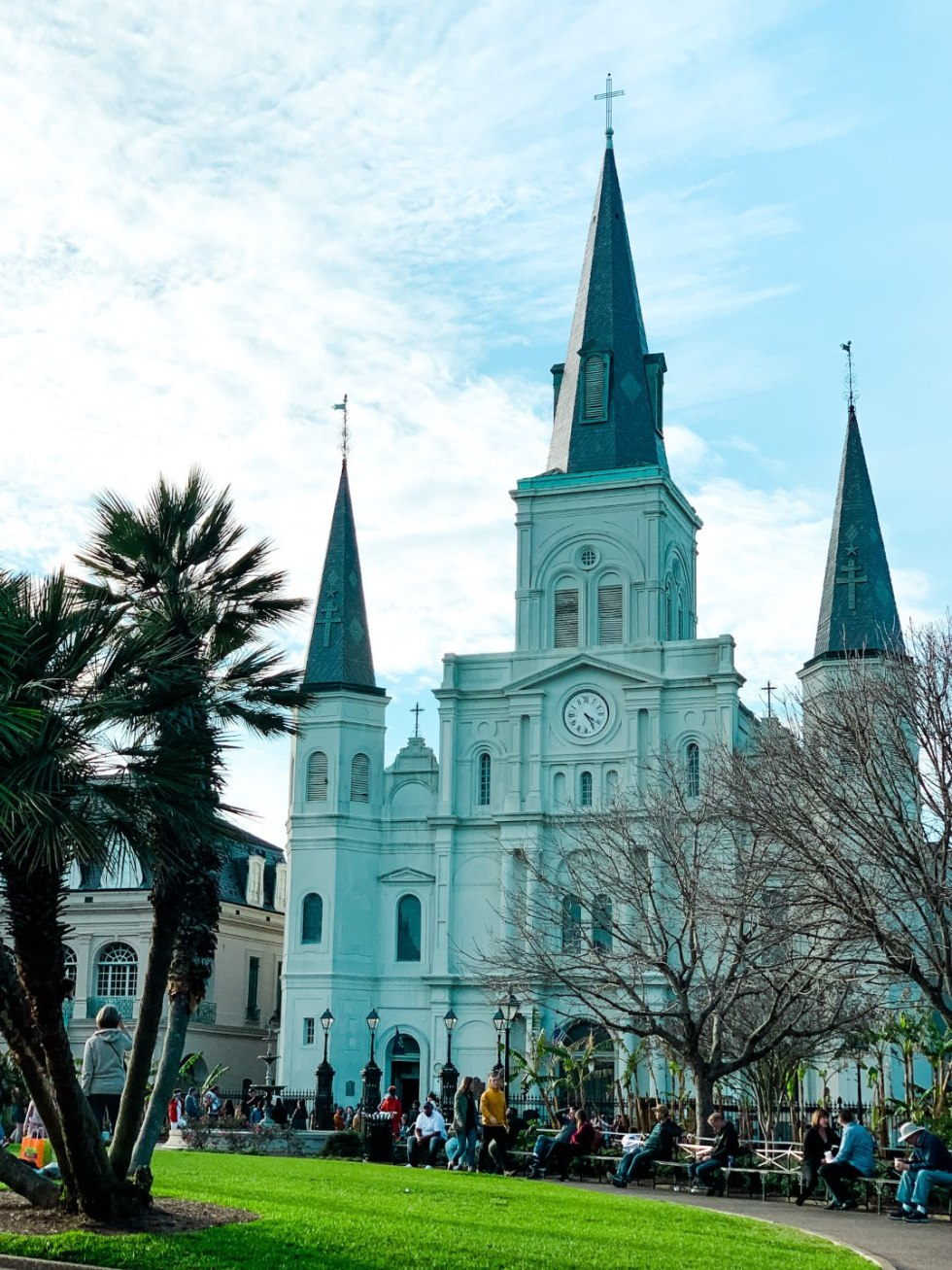 Girls Trip to New Orleans by popular US travel blog, I'm Fixin To: image of Jackson Square.