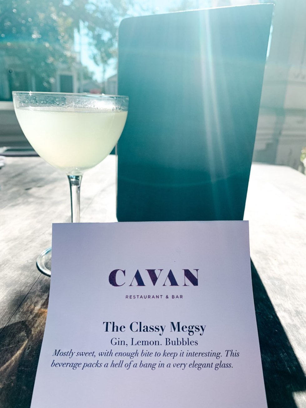 Girls Trip to New Orleans by popular US travel blog, I'm Fixin To: image of a Cavan restaurant menu.