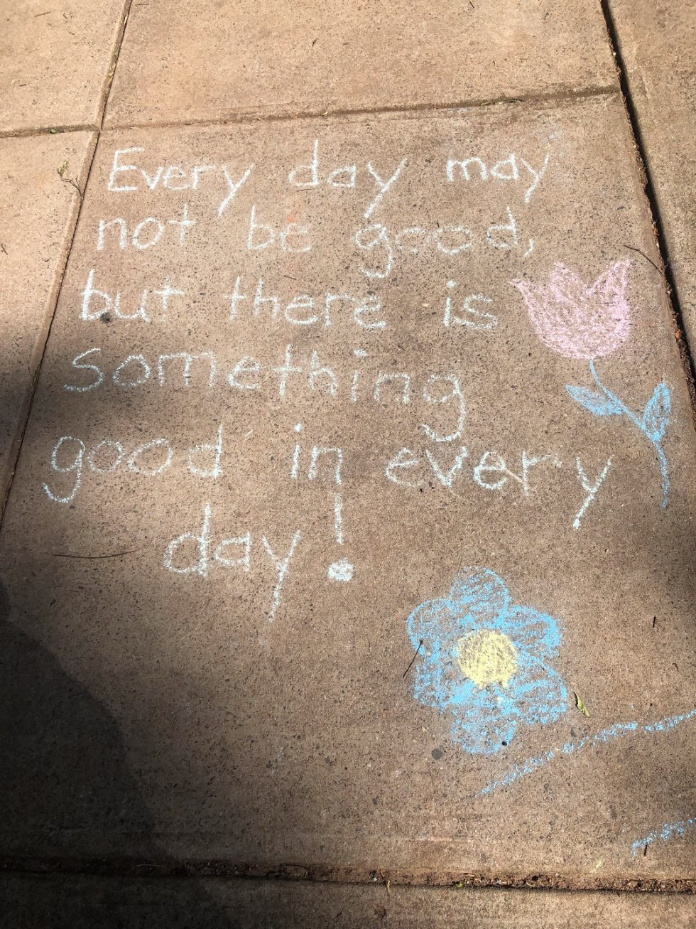 How to Make the Most of Your Time by popular N.C. lifestyle blog, I'm Fixin' To: image of a quote written in chalk on a sidewalk.