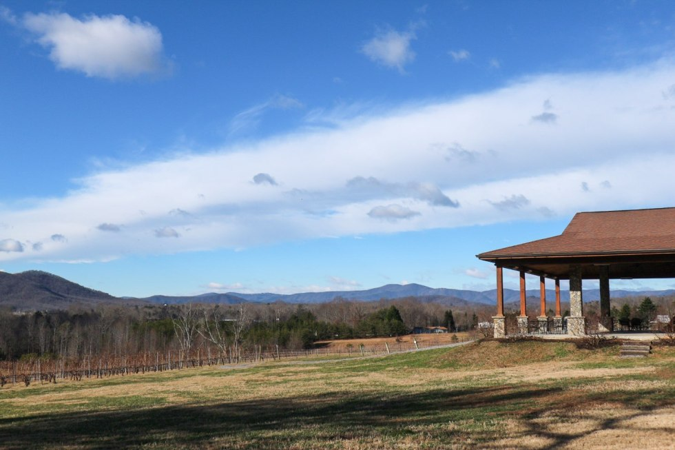 North Carolina Destinations by popular North Carolina blog, I'm Fixin' To: image of a North Carolina vineyard.