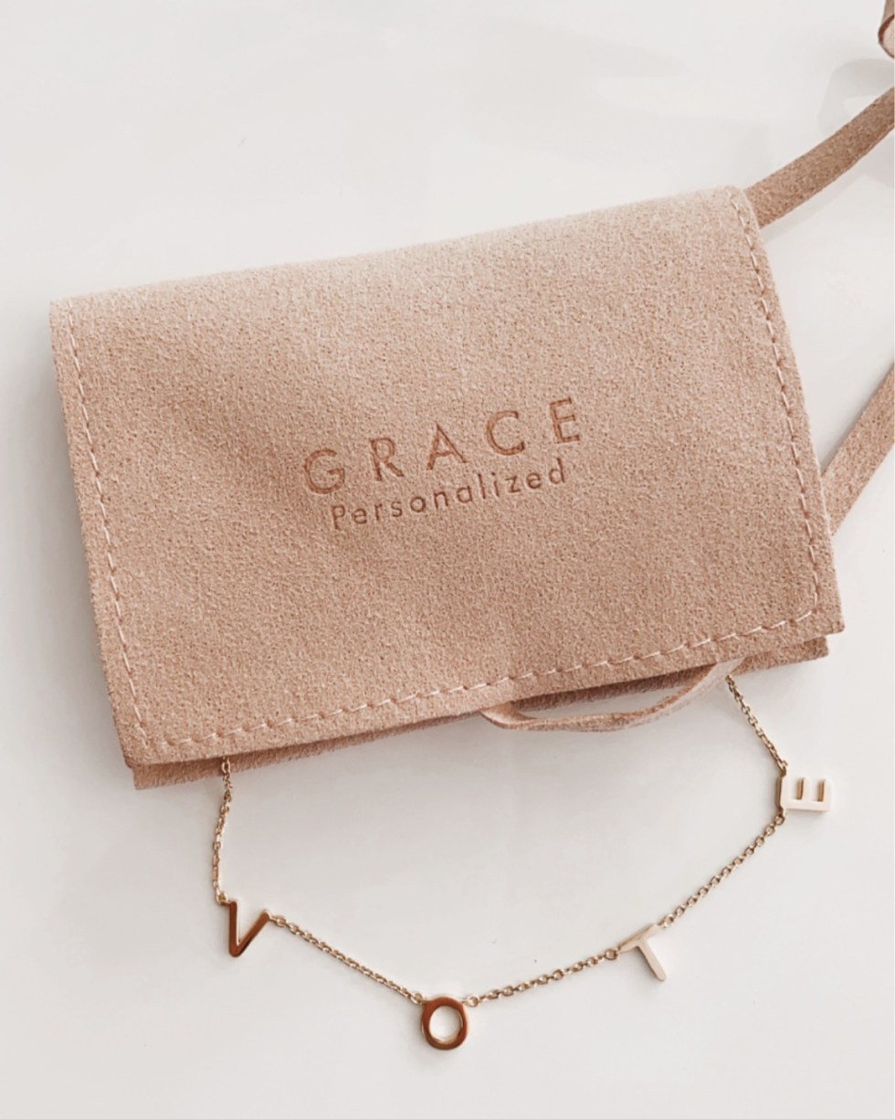 5 Recent Favorite Influenced Purchases - I'm Fixin' To - @mbg0112 | Favorite Purchases by popular N.C. life and style blog, I'm FIxin' To: image of a Grace Personalized Vote necklace.