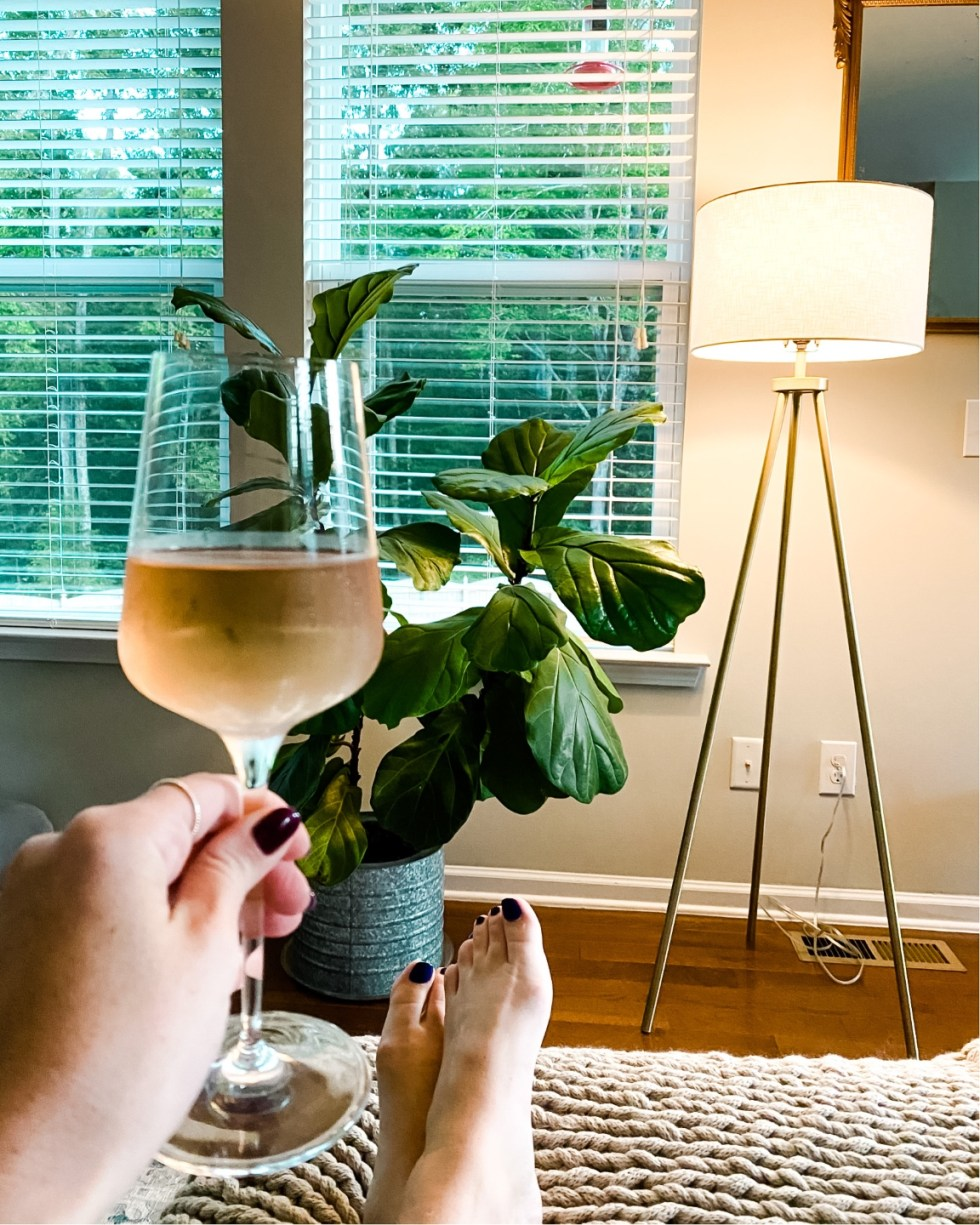 Top 5 Wine Glass Styles to Add to your Collection - I'm Fixin' To - @mbg0112   Wine Glass Styles by popular N.C. life and style blog, I'm Fixin' To: image of a Williams Sonoma Vintner white wine glass.