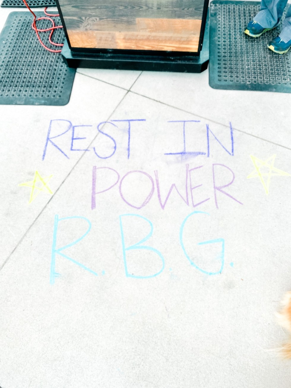A Casual Weekend in Asheville: the Best Things to Do with your Dogs - I'm Fixin' To - @mbg0112   Weekend In Asheville by popular NC travel blog, I'm Fixin' To: image of a Rest In Power RBG sign.