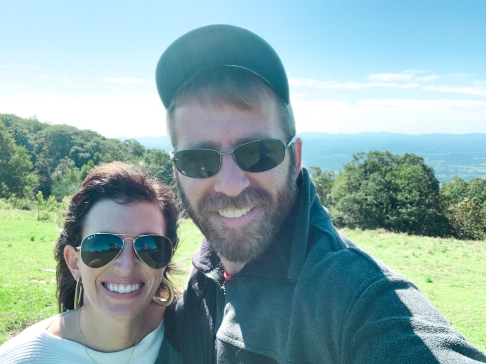 A Casual Weekend in Asheville: the Best Things to Do with your Dogs - I'm Fixin' To - @mbg0112   Weekend In Asheville by popular NC travel blog, I'm Fixin' To: image of a man and a woman standing together outside.