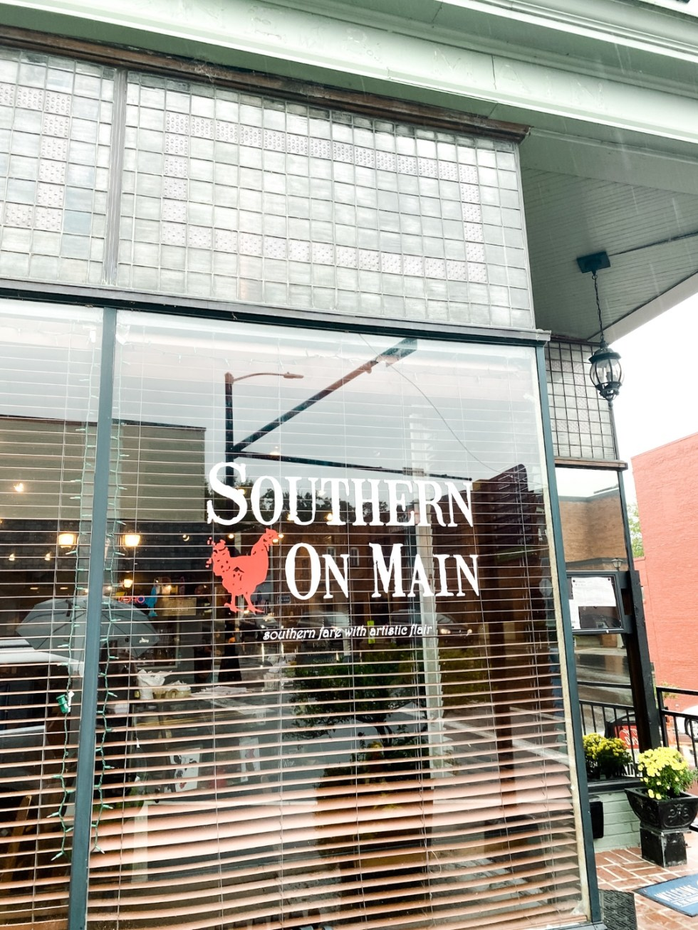 Western NC Wineries: 6 Wineries to Visit During your Next Girls' Weekend - I'm Fixin' To - @mbg0112 |Western NC Wineries by popular NC blog, I'm Fixin' To: image of Southern on Main.