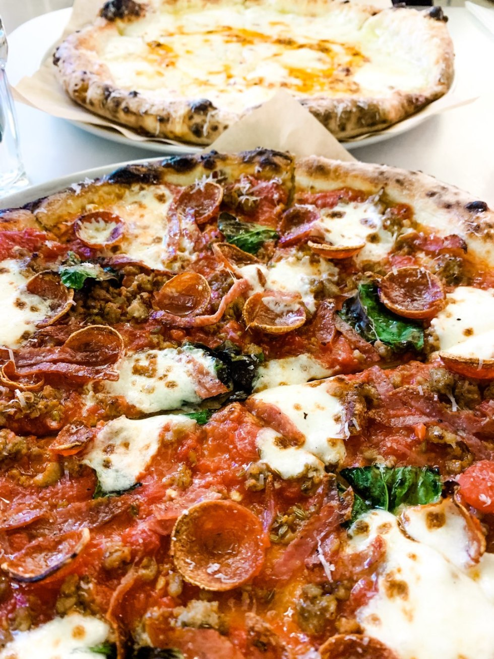 Most Popular Posts of 2020 - I'm Fixin' To - @imfixintoblog |Most Popular Posts by popular NC lifestyle blog, I'm Fixin' To: image of a pizza with pepperoni, sausage, and basil.