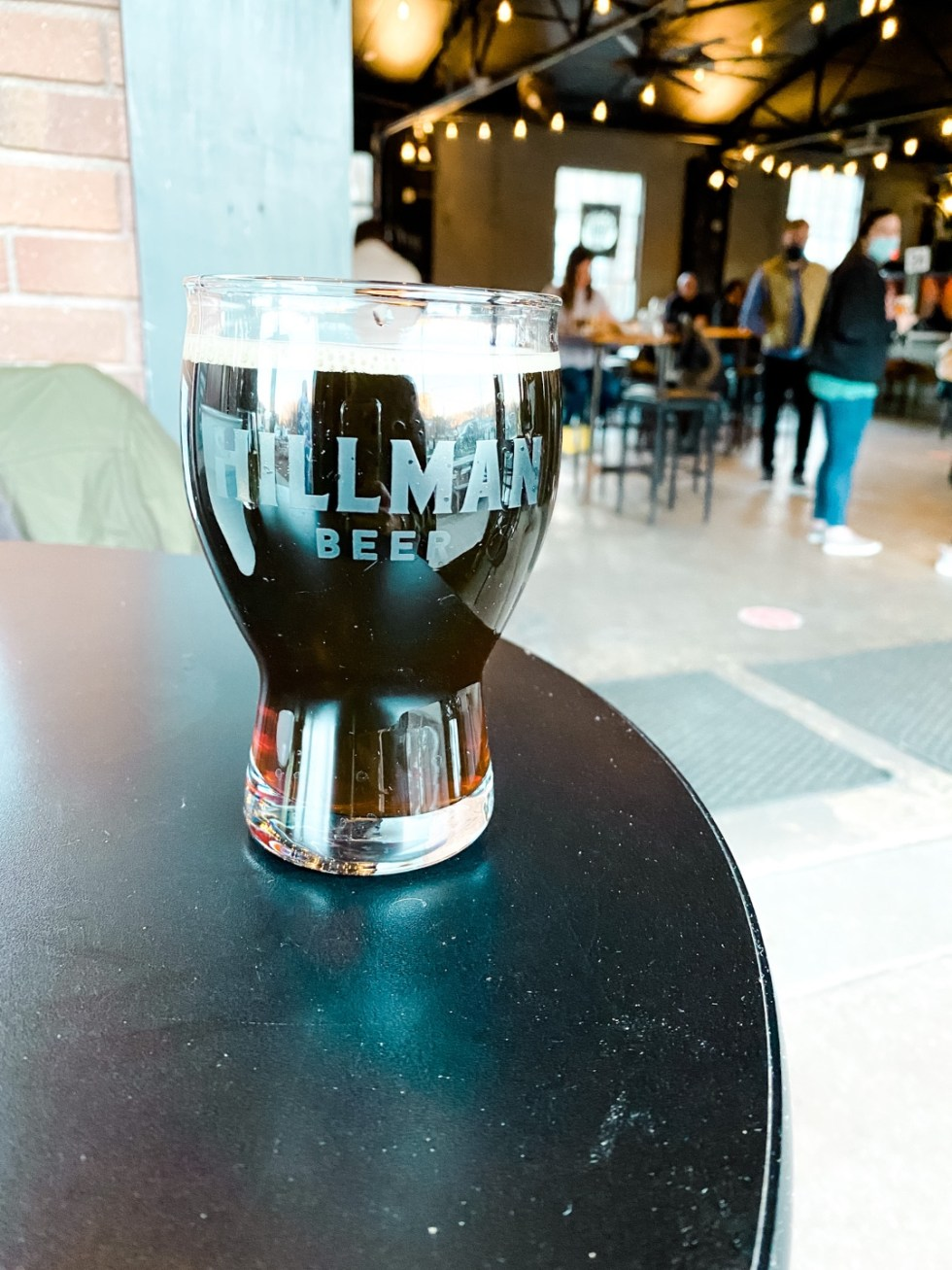 2021 Goal: Visiting All 100 Counties in NC - I'm Fixin' To - @imfixintoblog |Counties in NC by popular NC blog, I'm Fixin' To: image of a glass of Hillman beer.