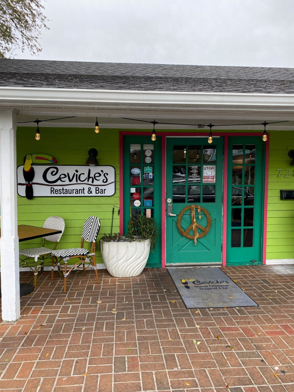 A Spring Weekend in Wilmington, NC: the Best Things to Do - I'm Fixin' To - @imfixintoblog |Weekend in Wilmington by popular NC travel blog, I'm Fixin' To: image of Ceviche's restaurant and bar.