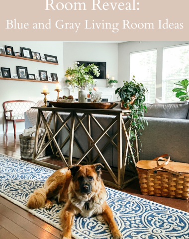 Room Reveal: Blue and Gray Living Room Ideas - I'm Fixin' To - @imfixintoblog