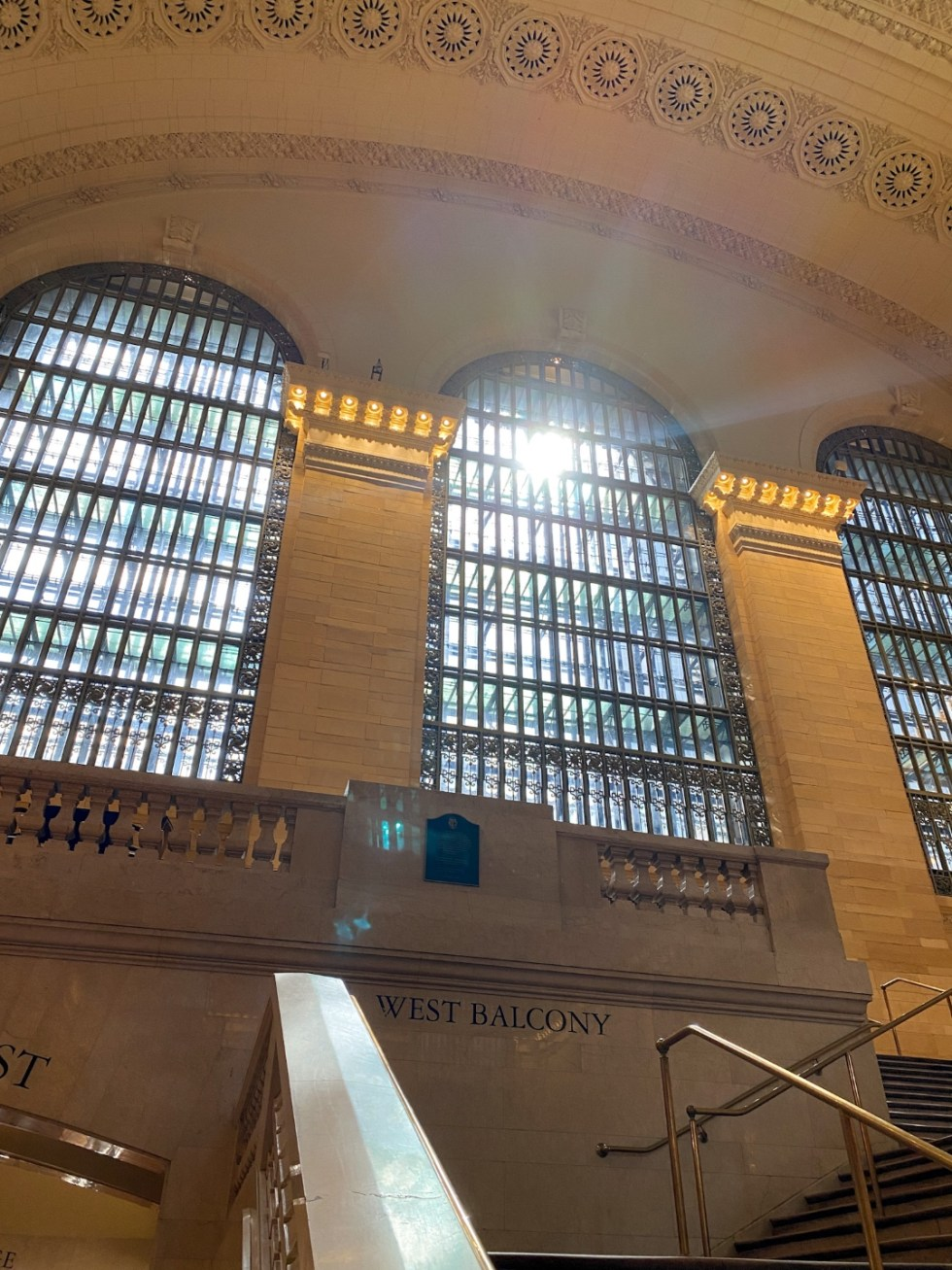 NYC Summer Weekend: Things to Do in NYC in the Summer - I'm Fixin' To - @imfixintoblog   NYC Summer Weekend by popular NC travel blog, I'm Fixin' To: image of the West Balcony in the Grand Central Terminal.