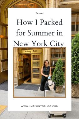 How I Packed for New York City - I'm Fixin' To - @imfixintoblog