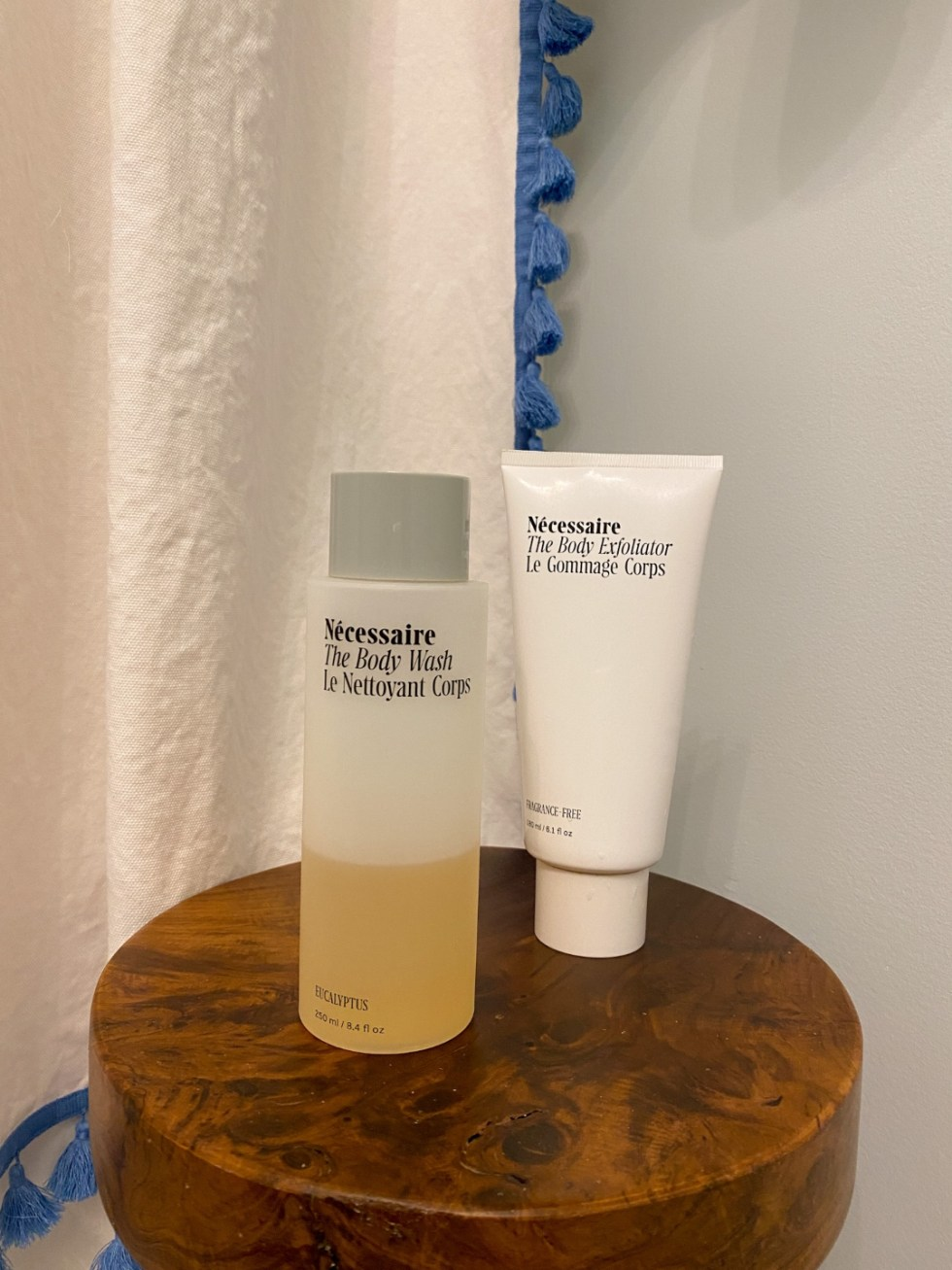 Recent Favorites: Top 10 Things I've Bought that Are Worth the Hype - I'm Fixin' To - @imfixintoblog | Recent Favorites by popular NC life and style blog, I'm Fixin' To: image of a bottle of Necessaire body wash and Necessaire body exfoliator.
