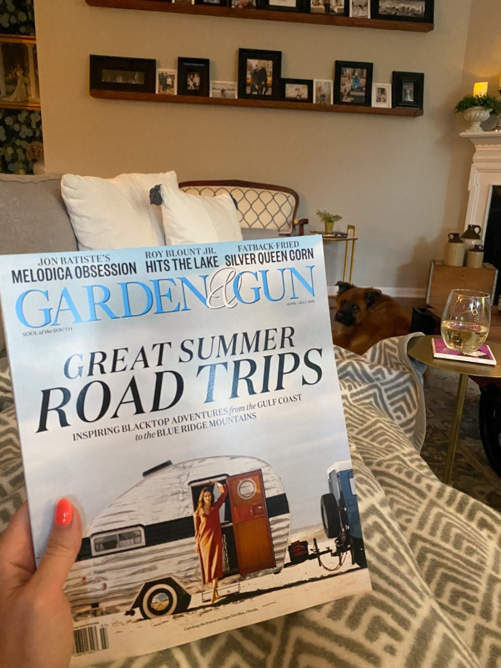 Recent Favorites: Top 10 Things I've Bought that Are Worth the Hype - I'm Fixin' To - @imfixintoblog | Recent Favorites by popular NC life and style blog, I'm Fixin' To: image of a woman holding a Garden and Gun magazine.