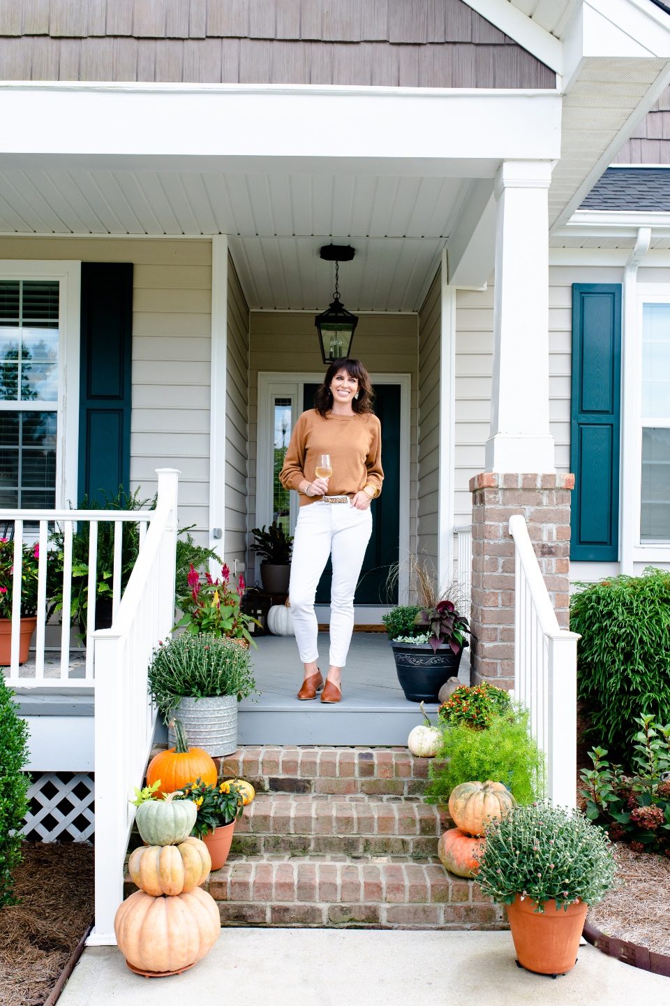 Fall Front Porch Decor with Fairview Garden Center featured by top NC blogger, I'm Fixin' To