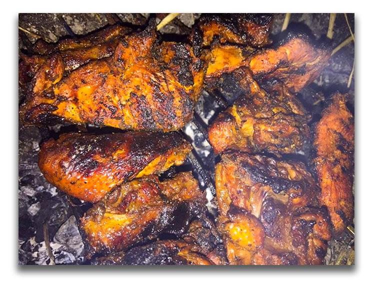 Chicken Barbecue at Nagarkot Damsite Camping, Bojini Dam