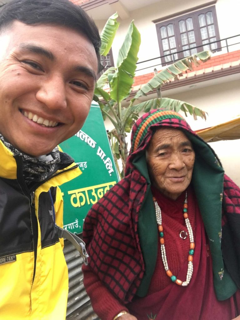 With Grandma at Besisahar, Lamjung Nepal