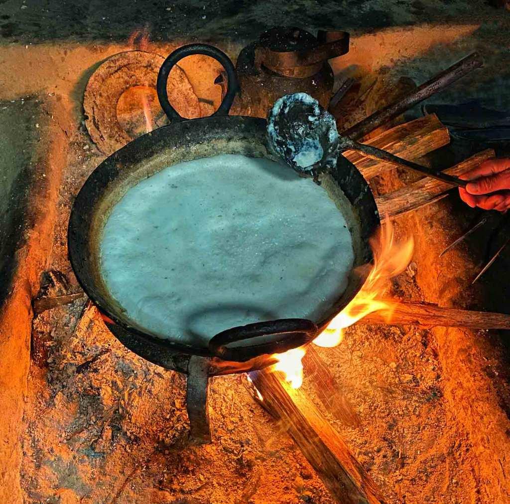 Boiling Milk at Ghanpokhara, Lamjung, Nepal