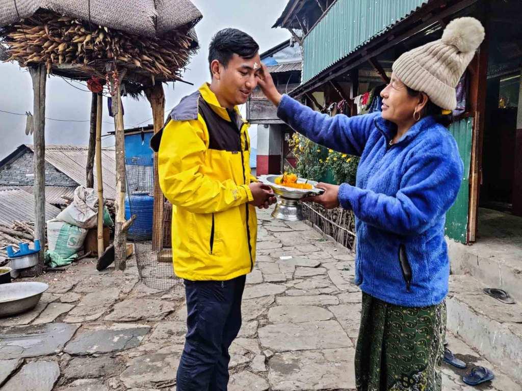 Farewell at Bhujung Homestay, Lamjung, Nepal