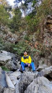 Posing for a Photo at Aandhi Khola Khasrang